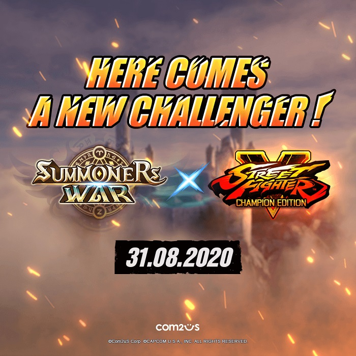 Summoners War X Street Fighter V Champion Edition Collaboration