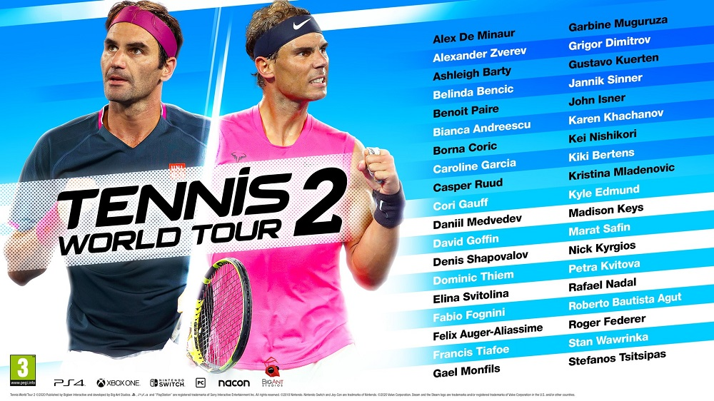 Tennis World Tour 2 Joueurs