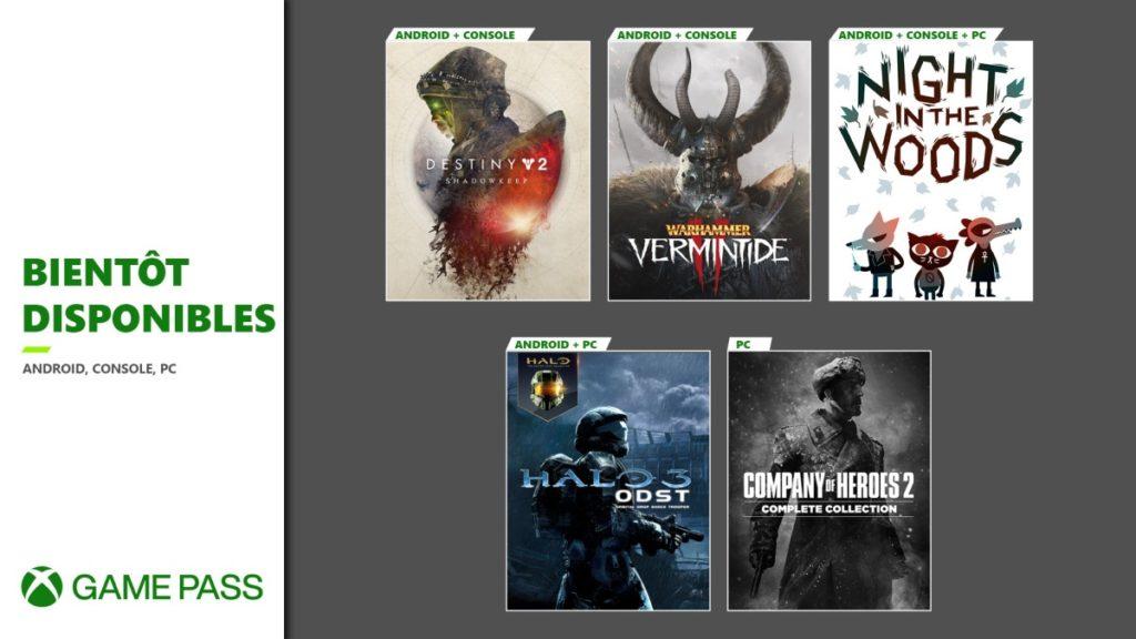 Xbox Game Pass Destiny 2