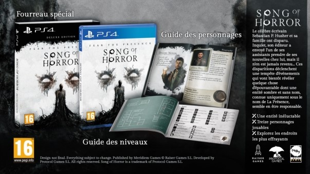 Song of Horror édition Deluxe Contenu